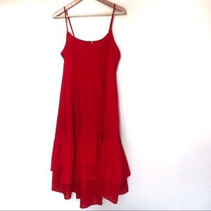 Free People red boho dress with adjustable straps